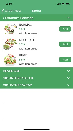 f&b ordering system providing easy features for online ordering