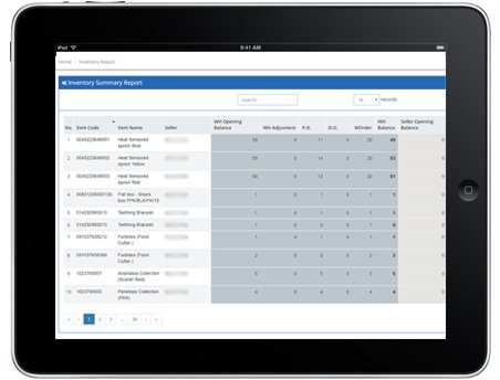 through inventory management software can track purchase order, delivery order and status of order.